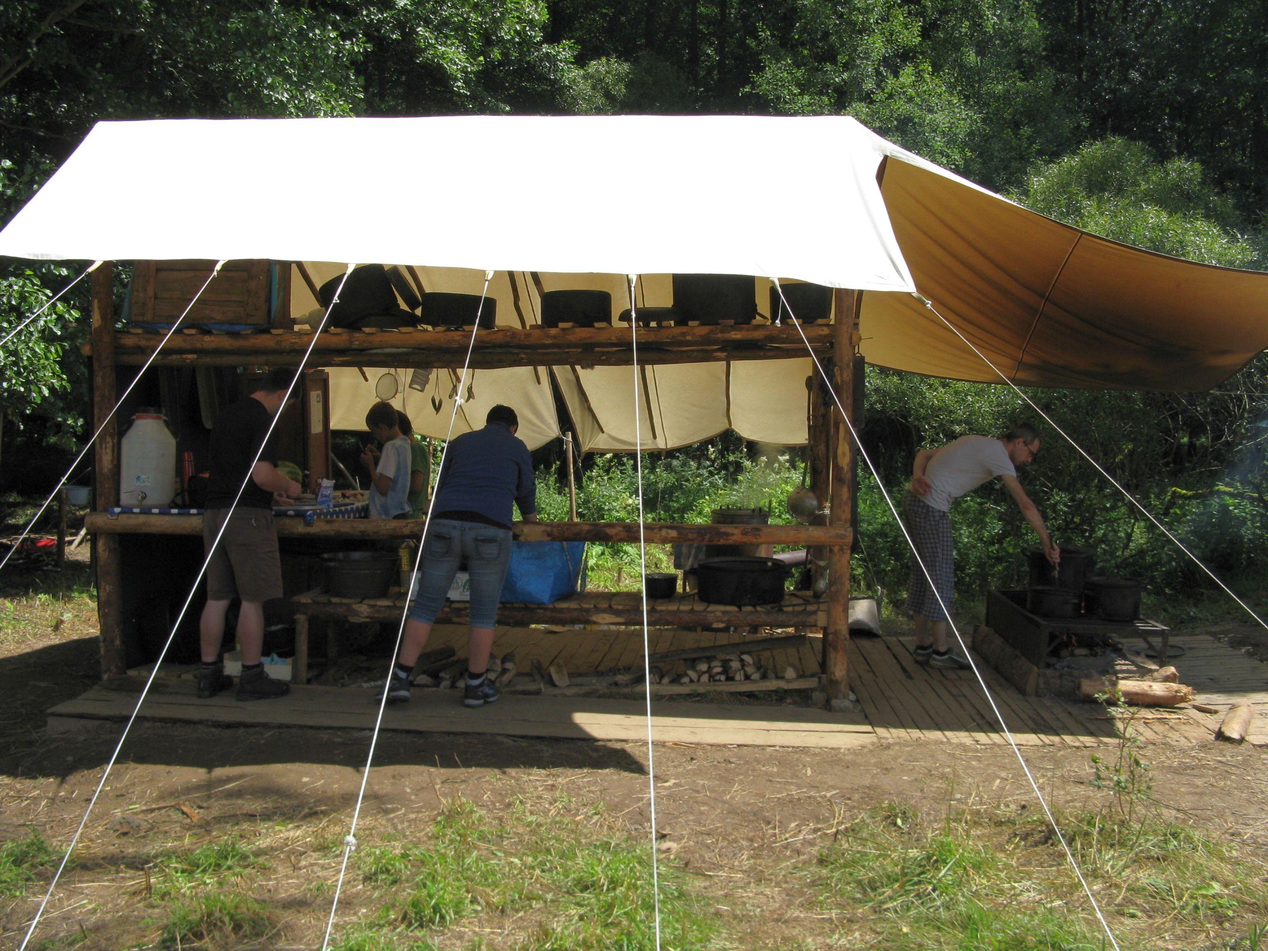 skautský tábor Sovího oddílu