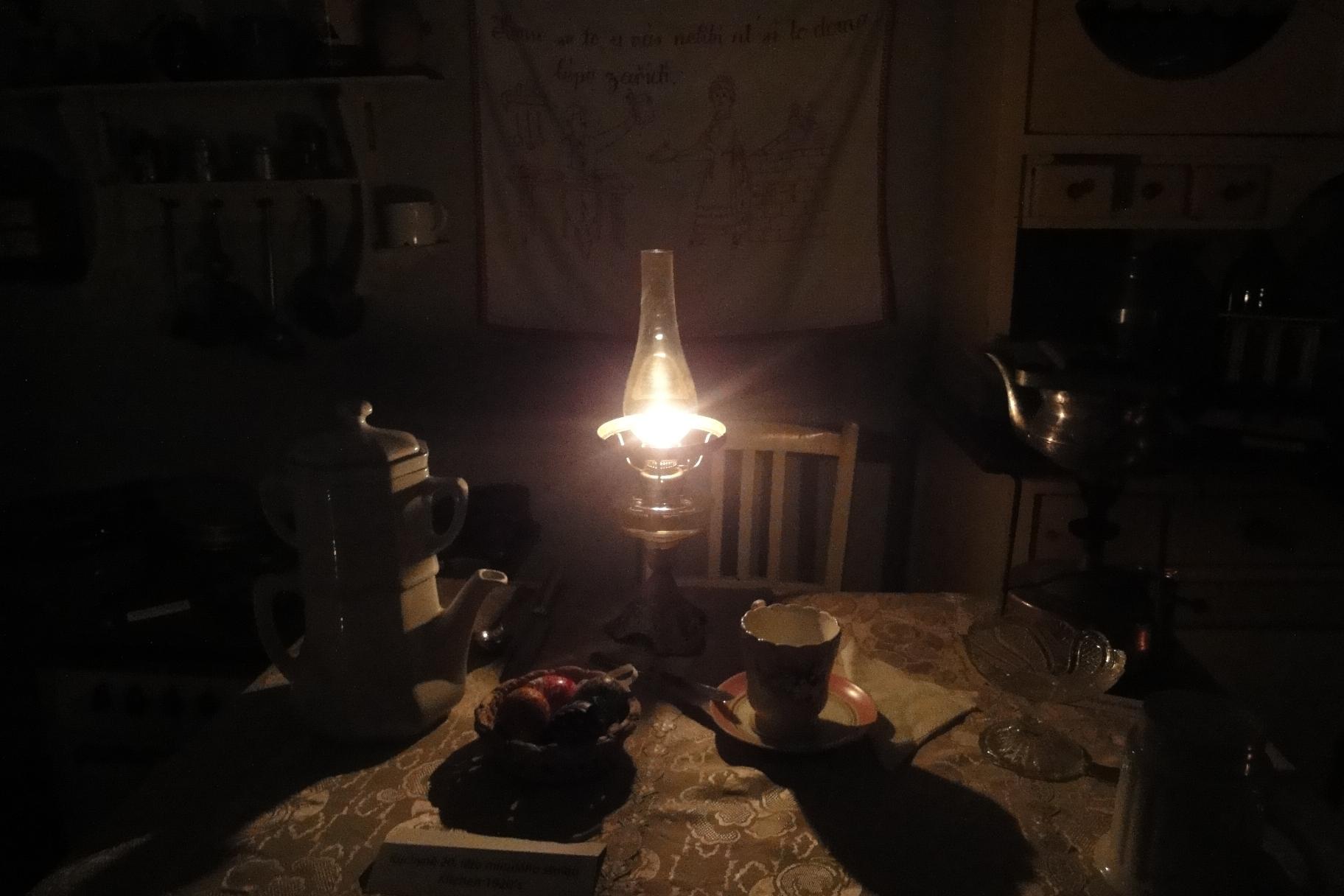světlo petrolejky